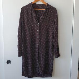Equipment x Kate Moss Black Silk Polka Dot Dress